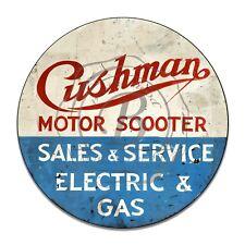 Cushman Motor Scooter Reproduction Circle Aluminum Sign