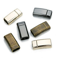 5pcs/lot Alloy Magnetic Clasps Fit 10x5mm Flat Leather Cord Bracelet Connector