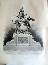 MONUMENT DE VICTOR HUGO PAR BARRIAS  SC 2046 ILLUSTRATION ANCIENNE