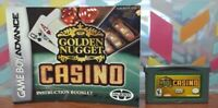 Golden Nugget Casino + Manual - Nintendo Game Boy Advance TESTED  Works