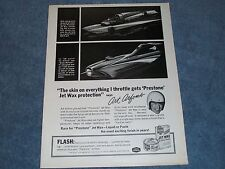 1967 Prestone Jet Wax Art Arfons Vintage Ad Green Monster Jet Boat