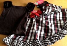 WHAT A DOLL 2PC BLACK CHECK SKIRT VELOUR OUTFIT + OUTFIT FOR A DOLL (6/6X)