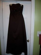 Couture Collection Size 8 Brown Full Length Gown Bride Maid Prom