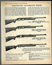 1968 REMINGTON 742 Rifle & Carbine, 741 BDL Deluxe, 742F Rifle AD