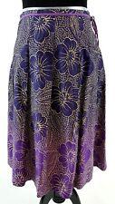 Nougat London Skirt Size 1 (8 10 US) Cotton Purple Floral Soft Pleats