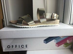 Office Gold Sandals Size39/6