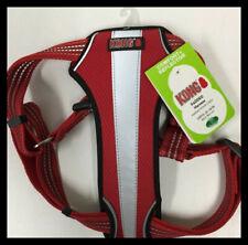 KONG RED/SILVERComfort Padded Reflective Dog Harness MEDIUM