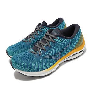 Mizuno Wave Rider 24 Waveknit Super Wide Blue Men Running Shoes J1GC2076-30