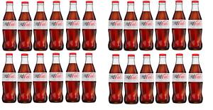 Diet Coca Cola Sugar Free Glass Bottle 330ml (Pack of 24)