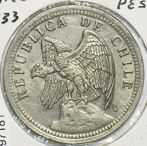 Chile 1933 Peso Condor animal 197181 combine shipping