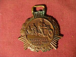 """Original 1917 Motorcycle  """"Gypsy Tour"""" Fob AMA Motorcycle Memorabilia"""