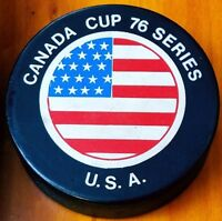 1976 VINTAGE CANADA CUP SERIES U.S.A. VICEROY CANADA HOCKEY PUCK CCCP OHA ERA