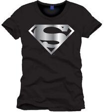 SUPERMAN T-Shirt Silver Logo - Taglia L - OFFICIAL MERCHANDISE