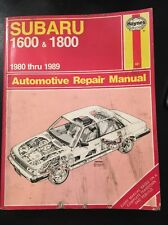 Haynes Subaru 1600 & 1800 1980-1989 Repair Manuel