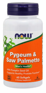 Now Foods - Pygeum & Saw Palmetto, 60 Softgels