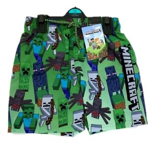 Boys Kids Children Minecraft Gaming Swimming Swim Shorts Trunks Age 4 - 14 Years
