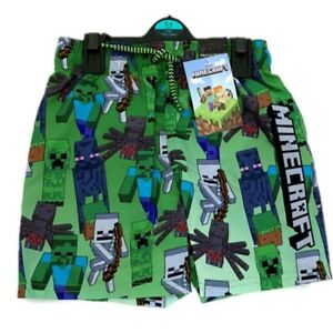 Boys Kids Children Minecraft Gaming Swimming Swim Shorts Trunks Age 4 - 14 Years