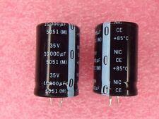 NRLM103M35V25X40 NIC Aluminum Lytic 10000uF 35V 20% Snap-In 4 PIECES