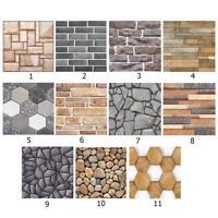 Rustic 3D Wall Decal Geometry Brick Stone Self-Adhesive Wall Sticker Panel Decor