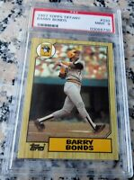 BARRY BONDS 1987 Topps GLOSSY Tiffany SP RARE Rookie Card RC PSA 9 MINT HR King