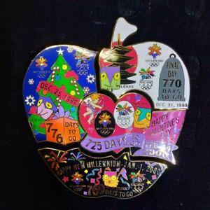 Limited set of 4 Nagano Olympics 1998/Salt Lake 2002 pin badges Japan