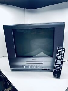 """Toshiba MD14H63 14"""" CRT Television Retro Gaming TV/DVD Combo - Works Great!"""