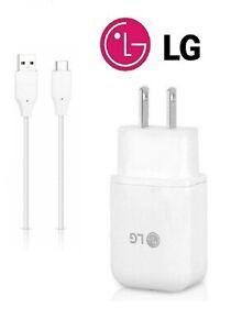 LG OEM ORIGINAL FAST ADAPTIVE CHARGER+LG TYPE C USB FOR LG Q7 / Q7 PLUS