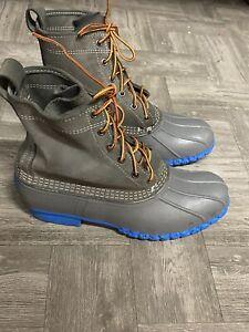 Ll Bean Gray Blue Duck Rain Boots 10