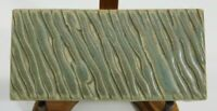 MOTAWI 5.75 x 2.75 inches Pottery Tile Retired, Discontinued Arts & Crafts moss