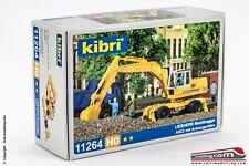 KIBRI 11264 - H0 1:87 - Mezzo da cantiere scavatore con carello e ruote Liebherr