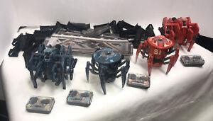 Hex Bug Hexbug BATTLE SPIDERS 4 Bots & 4 Remotes + Walls & Post Tested Works