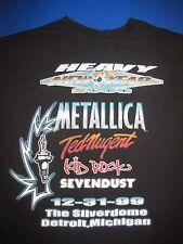 Metallica Motor City Millennium shirt Ted Nugent Kid Rock Sevendust Detroit L