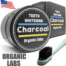 100% ORGANIC COCONUT ACTIVATED CHARCOAL TEETH WHITENING POWDER TOOTHPASTE