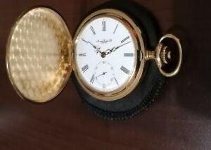Taschenuhr Savonette Montres Emka Geneve Swiss Made Sprungdeckeluhr Gold