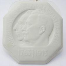 KPM Berlin Platte Friedrich der Große Wilhelm II. Preussen 1913 Biskuitporzellan