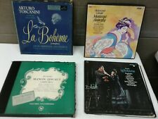 Lot of 4 Classical Opera 33 1/3 LP Puccini Manon Lescaut La Boheme Madame Butter