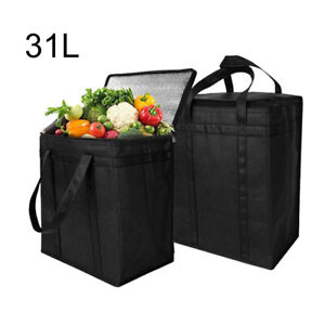 31L Extra Large Insulated Cooling Bag Picnic Food Drink Cooler Ice Pack Box Case