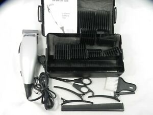 Remington Precision Hair Clipper HC-8017 with 8 Guides, Case, Booklet, More