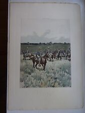 Beautiful Antique Print - Troopers Mounted, 1889 - (c)1892 by G.B