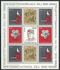 Jugoslawien - Bund der Kommunisten Block 15 postfrisch 1969 Mi. 1318-1321