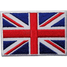 UK Flag Embroidered Iron / Sew On  Patch United Kingdom Badge Transfer  Ws