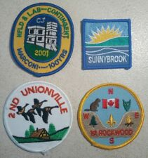 Lot Of Four Scouts Canada Badges - CJ'01 Jamboree/Contingent Patches And More