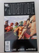 JUSTICE #1 (2005) DC COMICS 3RD PRINT VARIANT COVER! ALEX ROSS & BRAITHWAITE
