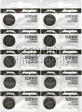 10 pc 1616 Energizer Watch Batteries CR1616 CR 1616 Lithium Battery 0% HG