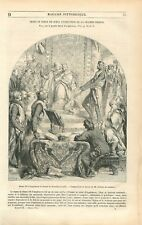 Magna Carta Grande Charte Henri III d'Angleterre Simon de Montfort GRAVURE 1851