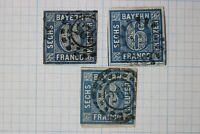 Germany Bavaria sc#11 6kr used color variety