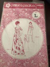 Vtg 70s Patterns Pacifica MuuMuu Yoke Dress 3020 Size L - New In package