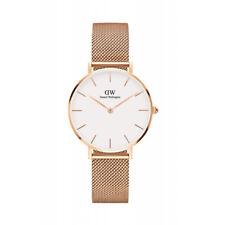 Daniel Wellington Women Classic White Face Rose Gold Petite Melrose Watch 32mm