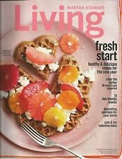 Martha Stewart Living January February 2014 Brass/Valentine's Day/Clear Clutter
