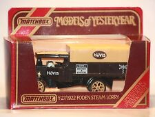 Matchbox-Models of Yesteryear Y-27/1922 Foden Steam Lorry-Limited Edition-Neu